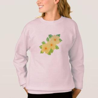 drei gelbe Blumen Sweatshirt