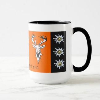 Drei Geweih-alpine Rotwild-Kopf-Tasse Tasse
