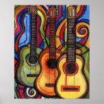 Drei Gitarren Poster
