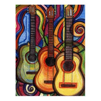 Drei Gitarren Postkarte