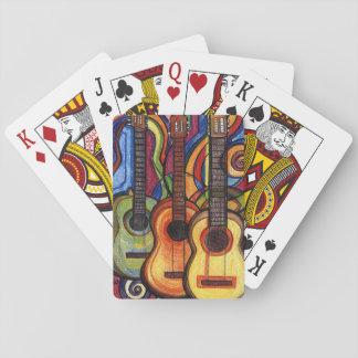 Drei Gitarren Spielkarten