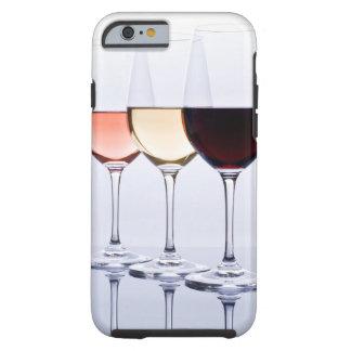 Drei Gläser des Wein-starken Kastens für iPhone Tough iPhone 6 Hülle