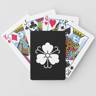 Drei Glyzinieblüte mit Reben Bicycle Spielkarten
