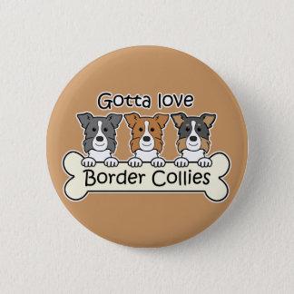 Drei GrenzCollies Runder Button 5,1 Cm
