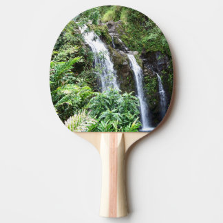 Drei hawaiisches Wasserfall-Klingeln Pong Paddel Tischtennis Schläger