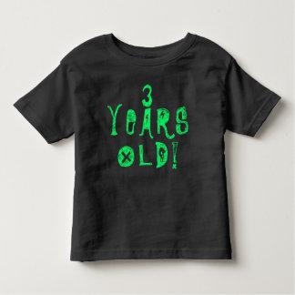drei Jahre Babyschädelfelsen-Neon des alten Kleinkind T-shirt