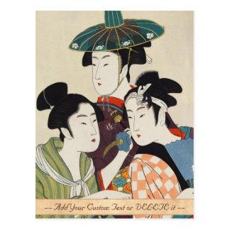 Drei junge kabuki Schauspieler Kitagawa, Utamaro Postkarte