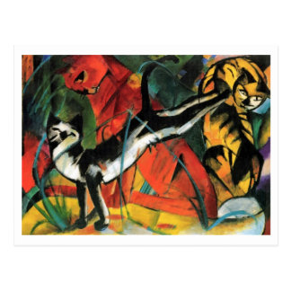 Drei Katzen durch Franz Marc Postkarte