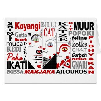 Drei Katzen löschen Gruß-Karte Grußkarte