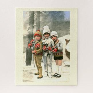 Drei Kinder Puzzle