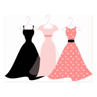 Drei Kleider Postkarte