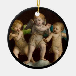 Drei kleine Engel oder Engel Keramik Ornament