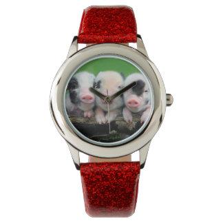 Drei kleine Schweine - niedliches Schwein - drei Armbanduhr