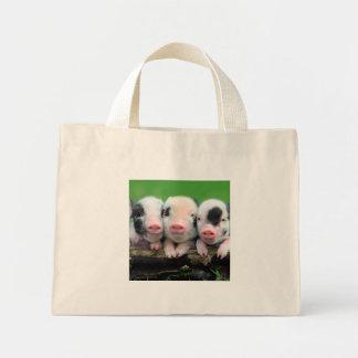 Drei kleine Schweine - niedliches Schwein - drei Mini Stoffbeutel