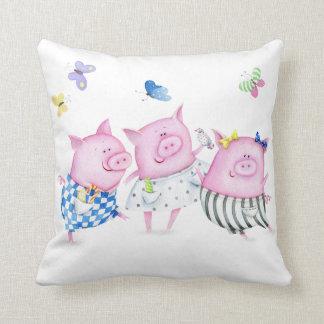 Drei kleines Schwein-Kissen Kissen