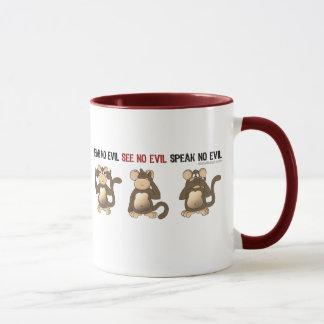 Drei kluge Affe-Tassen Tasse
