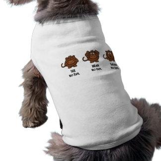 Drei kluge Affen Ärmelfreies Hunde-Shirt
