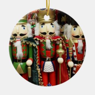 Drei kluge Cracker - Nussknacker-Soldaten Keramik Ornament