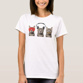 Drei kluge Katzen T-Shirt