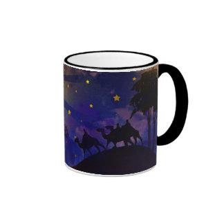 Drei kluge Männer u. Weihnachtsstern-Kaffee-Tasse