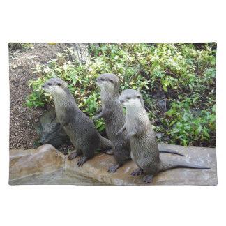 Drei kluge Otter, Stofftischset