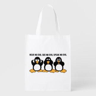 Drei kluge Pinguin-Entwurfs-Grafik Tragetasche