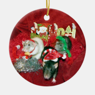 Drei kluge rundes keramik ornament