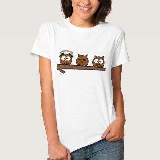 Drei kluge schrullige Eulen Hemden