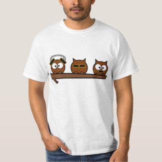 Drei kluge schrullige Eulen Shirts