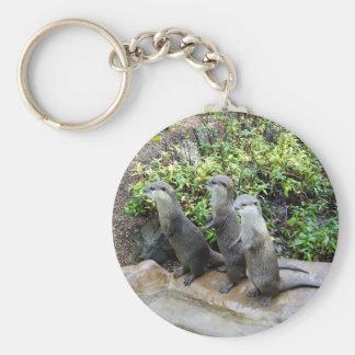 Drei kluge stehende Otter, Schlüsselanhänger
