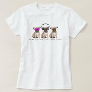 Drei kluge Stier-Hunde T-Shirts