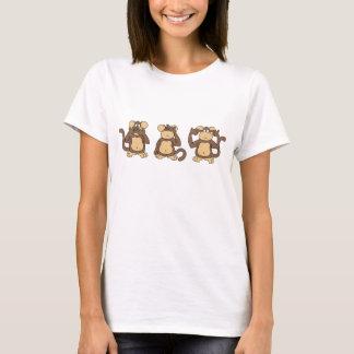 Drei kluges Affe-Shirt T-Shirt