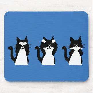 Drei kluges Kätzchen Mauspad
