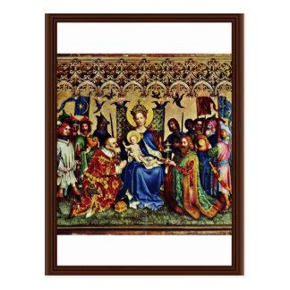 Drei König Altar, mittlere Platte: Verehrung des M Postkarte