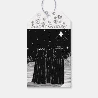 Drei Könige und Weihnachten spielen Geschenkanhänger