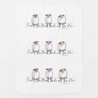 Drei kornische Mama-Schafe, die ihre Babys füttern Kinderwagendecke
