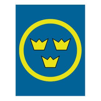 Drei Kronen Schweden Postkarte