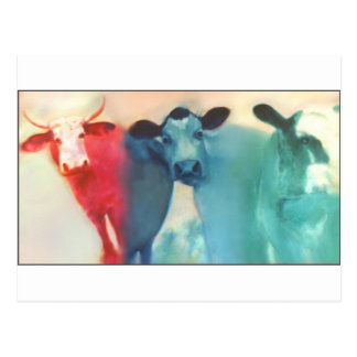 Drei Kuh-Postkarte