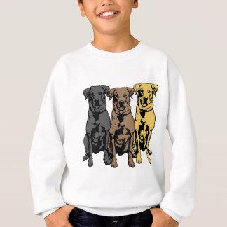 Drei Labrador-Retriever! Sweatshirt