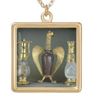 Drei liturgische Schiffe, die antike ves enthalten Halskette Mit Quadratischem Anhänger