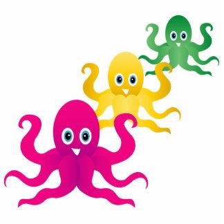 Drei lustige octopies fotoskulptur ornament