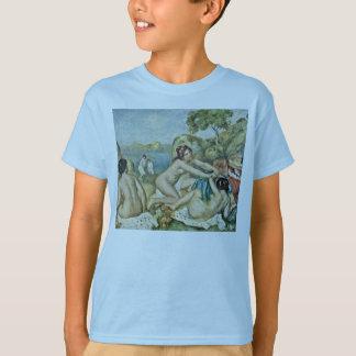 Drei Mädchen, die mit Krabbe durch Pierre-Auguste T-Shirt