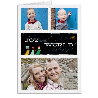 Drei Männers-Freude zum Weltweihnachten Mitteilungskarte
