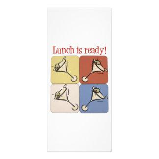 Drei Martini-Mittagessen Werbekarte