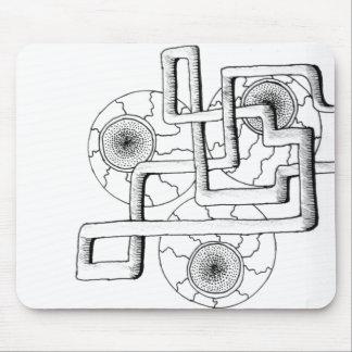Drei-mit Augen Auflage Mousepad