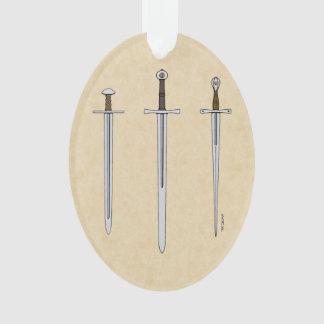 Drei mittelalterliche Schwerter 2016 Ornament