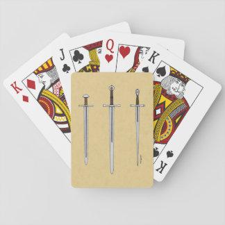 Drei mittelalterliche Schwerter 2016 Spielkarten