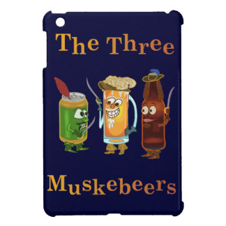 Drei Muskebeers lustiges Bier-Wortspiel iPad Mini Hülle