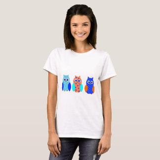 Drei niedliche Eulen T-Shirt