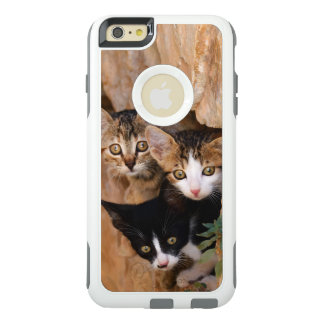 Drei niedliches neugieriges Katzen-Kätzchen-Foto OtterBox iPhone 6/6s Plus Hülle